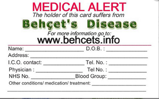 Request for Medical Alert card from BD info  web-site